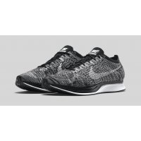 Shoes Low top trainers Nike Flyknit Racer Oreo Black/White