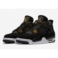 Shoes Hi top trainers Nike Air Jordan 4 Royalty Black/Metallic Gold-White