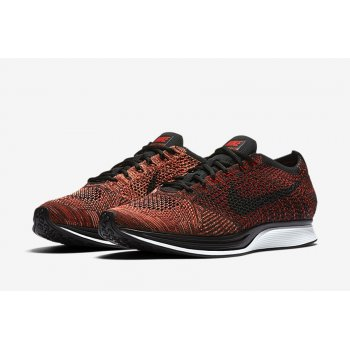 Shoes Low top trainers Nike Flyknit Racer Red Black Mango University Red/Black-Bright Mango