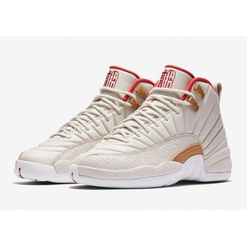 Shoes Hi top trainers Nike Air Jordan 12 CNY Off White/Peach Pink-Metallic Gold