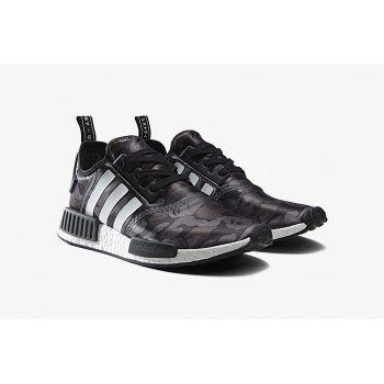 Shoes Low top trainers Nike NMD R1 x Bape Camo Black Pantone / Running White Ftw / Running White Ftw