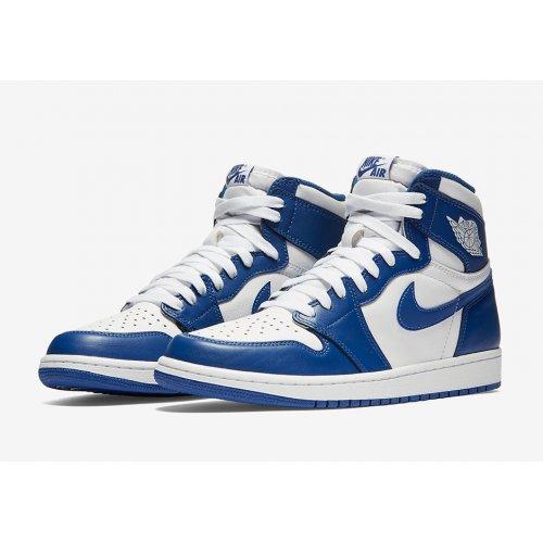 Shoes Hi top trainers Nike Air Jordan 1 High Storm Blue White/Storm Blue
