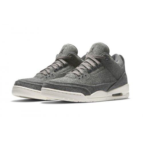 Shoes Low top trainers Nike Air Jordan 3 Wool Dark Grey Dark Grey/Dark Grey-Sail
