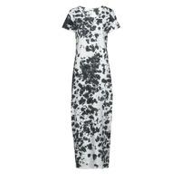Clothing Women Long Dresses Yurban OVIZ Grey / White