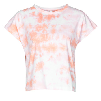 Clothing Women Short-sleeved t-shirts Yurban ONILA White / Pink