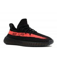 Shoes Low top trainers adidas Originals Yeezy Boost 350 V2 Red Stripe Core Black/Red/Core Black