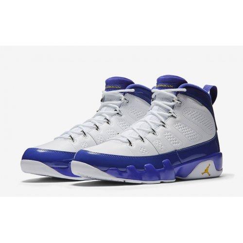 Shoes Hi top trainers Nike Jordan 9 Kobe Bryant  White/Concord-Tour Yellow