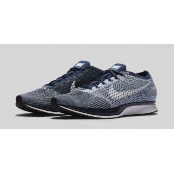 Shoes Low top trainers Nike Flyknit Racer Blue Tint Blue Tint/Blue Cap/White