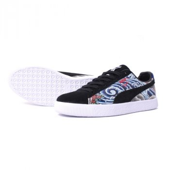 Shoes Low top trainers Puma Clyde Three Tides Tatoo x Atmos Black/Multi