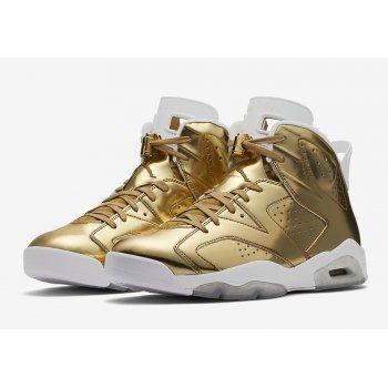 Shoes Hi top trainers Nike Air Jordan 6 Pinnacle Gold Metallic Gold/White