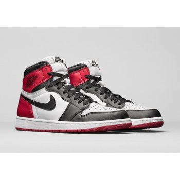 Shoes Hi top trainers Nike Air Jordan 1 High Black Toe Black/White-Varsity Red