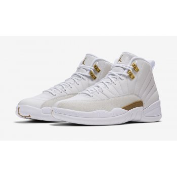 Shoes Hi top trainers Nike Air Jordan 12 x OVO White White/Metallic Gold-White