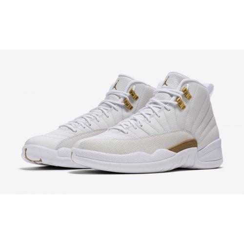 Shoes Hi top trainers Nike Air Jordan 12 x OVO White White/Metallic Gold-White