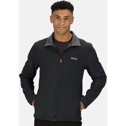 Clothing Men Track tops Regatta CERA V RATIO PK Softshell Navy Marl Black Black