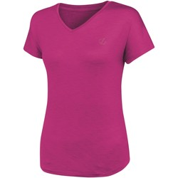 Clothing Women T-shirts & Polo shirts Dare 2b AGLEAM Wicking TShirt Pink