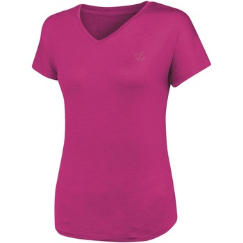 Clothing Women T-shirts & Polo shirts Dare 2b AGLEAM Wicking TShirt Active Pink Pink Pink
