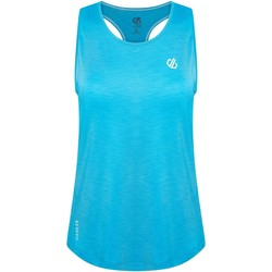 Clothing Women Tops / Sleeveless T-shirts Dare 2b MODERNIZE II Wicking Vest Petrol Blue Blue Blue