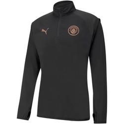 Clothing Men Sweaters Puma Sweat Manchester City Warmup noir/rose brillant