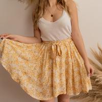 Clothing Women Skirts Céleste EGLANTINE Yellow / White