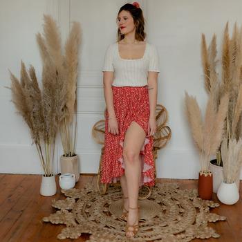 Clothing Women Skirts Céleste TOURTERELLE Red / Multicolour