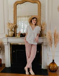 Clothing Women Tops / Blouses Céleste MESANGE White