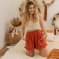 Clothing Women Shorts / Bermudas Céleste MAGNOLIA Terracotta