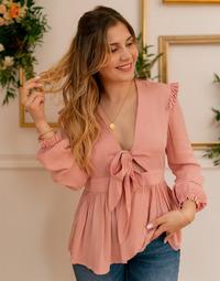 Clothing Women Tops / Blouses Céleste ROSSIGNOL Pink