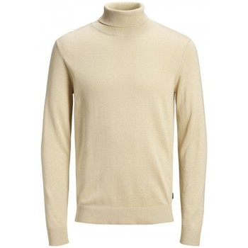 Clothing Men Jumpers Jack & Jones Jjeemil Knit Roll 12157417 Beige