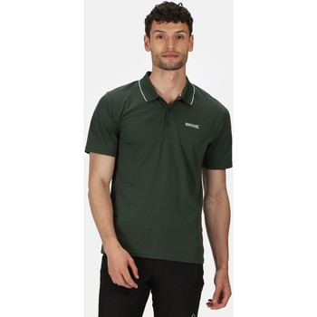 Clothing Men Short-sleeved polo shirts Regatta Maverick V Active Polo Shirt Green Green