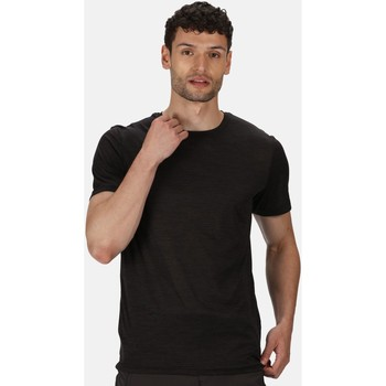Clothing Men T-shirts & Polo shirts Regatta Fingal Edition Marl T-Shirt Black Black