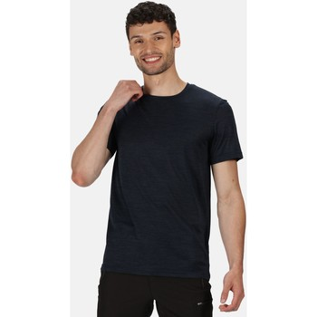 Clothing Men Short-sleeved t-shirts Regatta Fingal Edition Marl T-Shirt Blue Blue