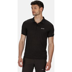 Clothing Men Short-sleeved polo shirts Regatta Remex II Jersey Polo Shirt Black Black