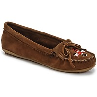 Shoes Women Loafers Minnetonka THUNDERBIRD II Brown / Dark