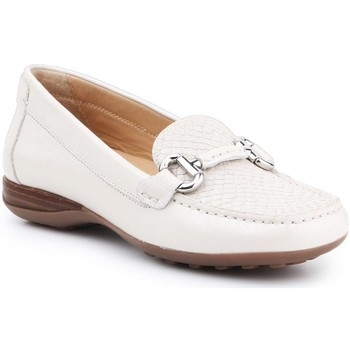 Shoes Women Loafers Geox D Euro D White