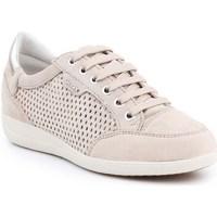 Shoes Women Low top trainers Geox D Myria B Beige