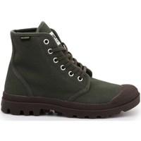 Shoes Men Hi top trainers Palladium Pampa HI Originale Green, Brown