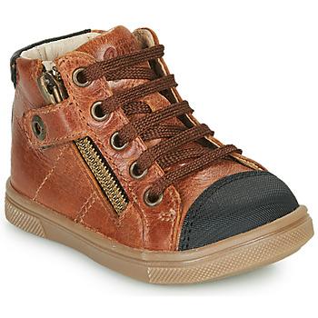 Shoes Boy Hi top trainers GBB KAMIL Brown