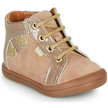Shoes Girl Hi top trainers GBB PRUNE Beige