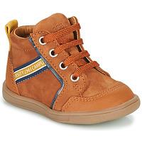 Shoes Boy Hi top trainers GBB GERMAIN Brown