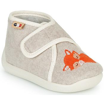 Shoes Girl Slippers GBB APOCHOU Beige