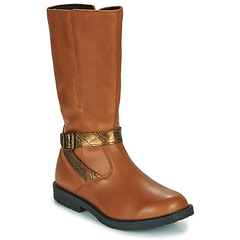 Shoes Girl High boots GBB OKINDI Brown