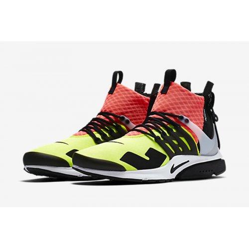 Shoes Hi top trainers Nike Air Presto Mid x Acronym Volt Neon Blanc/Noir/Lave piquant/Volt