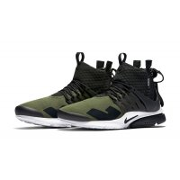 Shoes Hi top trainers Nike Air Presto Mid x Acronym Olive Medium Olive/Dust-Black