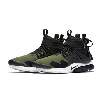Shoes Hi top trainers Nike Air Presto Mid x Acronym Olive Medium Olive/Dust-Black