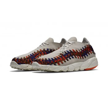 Shoes Low top trainers Nike Air Footscape Woven Rainbow White Light Bone/Total Crimson
