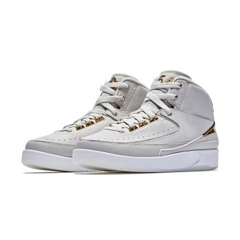 Shoes Hi top trainers Nike Air Jordan 2 Quai 54 Light Bone/Metallic Gold-White