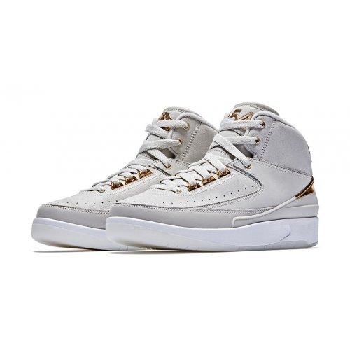 Shoes Hi top trainers Nike Air Jordan 2 Quai 54 Light Bone/Metallic Gold-White
