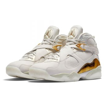 Shoes Hi top trainers Nike Air Jordan 8 Confetti Champagne Light Bone/Metallic Gold–White