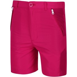 Clothing Girl Shorts / Bermudas Regatta SORCER MOUNTAIN Lightweight Shorts Seal Grey Black Pink Pink