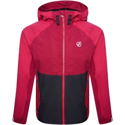 Clothing Girl Track tops Dare 2b In The Lead II Hooded Waterproof Jacket  Pink Pink